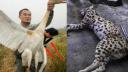 男子西藏猎杀白鹤拍照炫耀