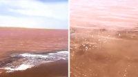 奇观青海湖变血红色 浪漫到极致的风景