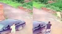 惊!男子在车主面前盗车