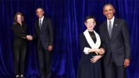 奥巴马退休后, 跑来中国接见微商了?