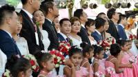 来自中国的数百对夫妇在斯里兰卡举行了大规模的婚礼