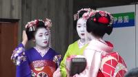 京都街头偶遇优雅艺伎
