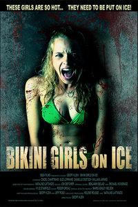 冰上的比基尼女孩