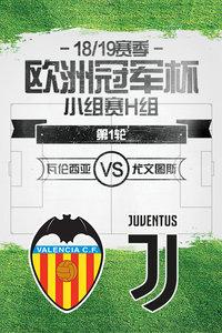 欧洲冠军杯18/19赛季 小组赛H组 第1轮 瓦伦西亚VS尤文图斯