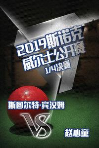2019斯诺克威尔士公开赛 1/4决赛 斯图尔特·宾汉姆VS赵心童
