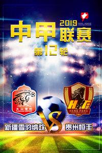 2019中甲联赛 第12轮 新疆雪豹纳欢VS贵州恒丰