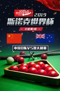 2019斯诺克世界杯 D组第1轮 中国B队VS澳大利亚