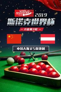2019斯诺克世界杯 A组第3轮 中国A队VS奥地利