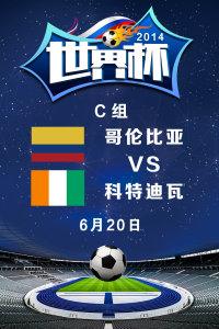 2014世界杯 C组哥伦比亚VS科特迪瓦 6月20日