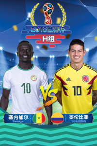 2018世界杯 H组塞内加尔VS哥伦比亚
