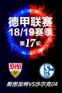 德甲联赛18/19赛季 第17轮 斯图加特VS沙尔克04