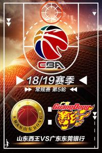 CBA 18/19赛季 常规赛 第5轮 山东西王VS广东东莞银行