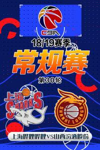 CBA 18/19赛季 常规赛 第30轮 上海哔哩哔哩VS山西汾酒股份
