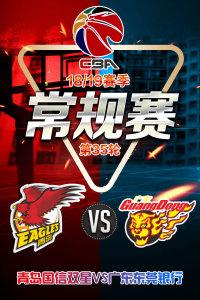 CBA 18/19赛季 常规赛 第35轮 青岛国信双星VS广东东莞银行