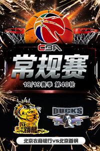 CBA 18/19赛季 常规赛 第40轮 北京农商银行VS北京首钢