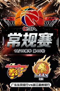 CBA 18/19赛季 常规赛 第40轮 广东东莞银行VS浙江稠州银行