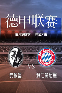 德甲联赛18/19赛季 第27轮 弗赖堡VS拜仁慕尼黑