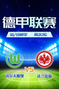德甲联赛18/19赛季 第30轮 沃尔夫斯堡VS法兰克福