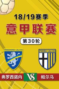 意甲联赛18/19赛季 第30轮 弗罗西诺内VS帕尔马