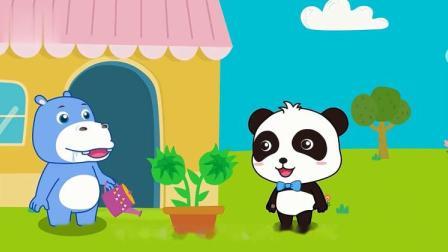 宝宝巴士:壮壮种了向日葵,它听说向日葵的葵花籽特别好吃!