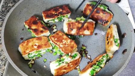 香煎葱油饼最简单家常做法,过年做给亲戚朋友吃