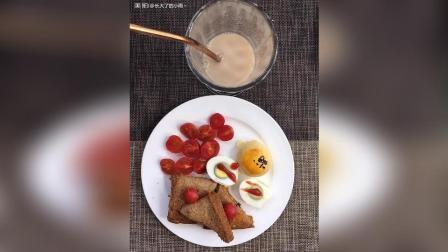 自制南瓜肉松面包~营养瘦身奶茶