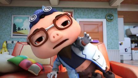 迷糊博士说大家正在为他治疗失忆症,还说猪猪侠是热心的孩子!小呆呆把芥末牙膏当药,迷糊博士吃了之后脸都红了