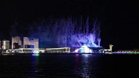 青岛国际会议中心2018年国庆节烟花表演