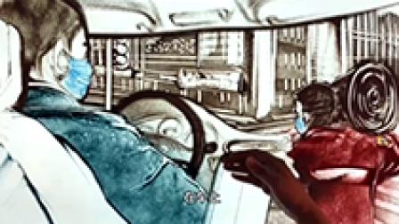 """沙画声音日志⑤在武汉街头 我两次被私家车""""拦""""下"""