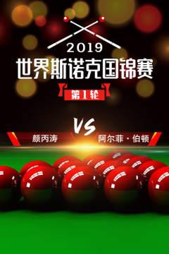 2019世界斯诺克国锦赛 第1轮 颜丙涛VS阿尔菲·伯顿