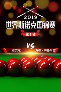 2019世界斯诺克国锦赛 第1轮 张安达VS贾德·特鲁姆