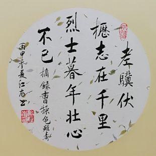 喻江南书法系统培训