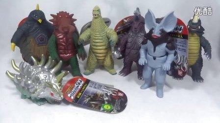 【妖.199】银河奥特曼500怪兽软胶 合成泰兰特的七只小怪兽