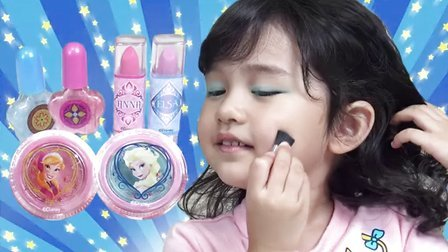 变身艾莎就这么简单!冰雪奇缘化妆包【中国爸爸】日本玩具
