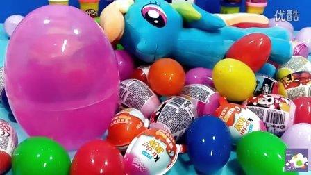 泡沫惊喜蛋玩具拆箱亲子视频 亲子玩具培乐多泡沫粘土礼品蛋 小猪佩奇 熊出没