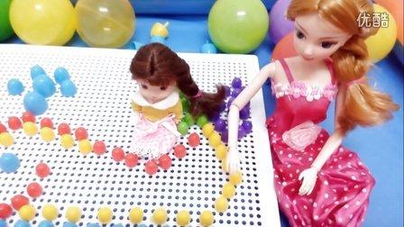 粉红猪小妹 猪猪侠 芭比娃娃 蘑菇钉做鲸鱼 04