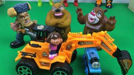 晶莹剔透彩虹冰淇淋惊喜蛋;培乐多泡沫粘土健达奇趣蛋玩具试玩!熊出没 #PomPom玩具#