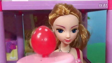 玩具娃娃棉花球泡泡浴;彩虹棉花球寻找卡通动画玩具!小猪佩奇熊出没 #PomPom玩具#