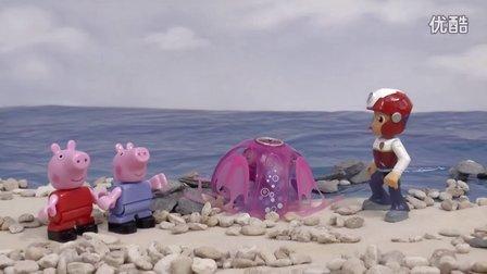 彩虹圆盘小果冻DIY教学;手工制作培乐多果冻粘土玩具!小猪佩奇熊出没 #PomPom玩具#