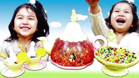 迪士尼公主萌茶具!BB弹玩过家家【中国爸爸】日本玩具