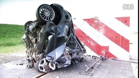 恐怖!模拟高速碰撞实车碰撞测试