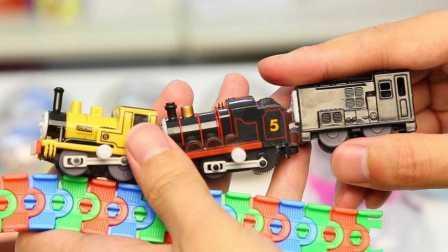 托马斯和他的朋友们 场景火车组 日本扭蛋 拆蛋 詹姆士 迪塞尔