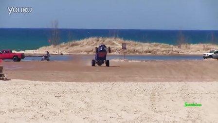 看看外国越野车 沙滩车疯玩