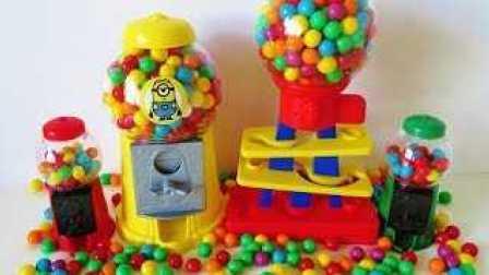 口香糖糖果机器 Gumball machine candy dispenser 儿童玩具 学习不同的颜色和学习英语