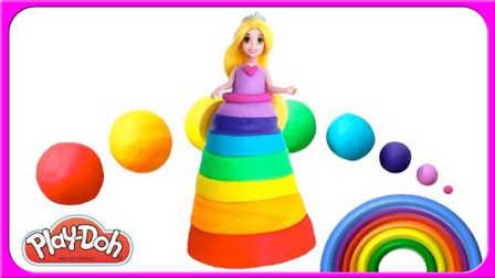 哇 彩虹缤纷颜色鸡蛋 色彩配对培乐多粘土哟 396