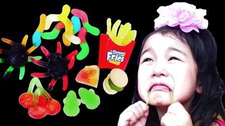 狼蛛,青蛙,毛毛虫!?昆虫软糖没谁了【中国爸爸】日本食玩