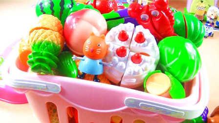 跟小猪佩奇糖果猫一起玩蔬菜水果切切看 水果忍者切切乐 粉红猪小妹小黄人熊出没 托马斯超级飞侠 猪猪侠 喜羊羊 迪士尼 白雪公主 海绵宝宝