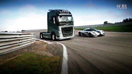 沃尔沃大卡车和超跑终极对决引爆视觉