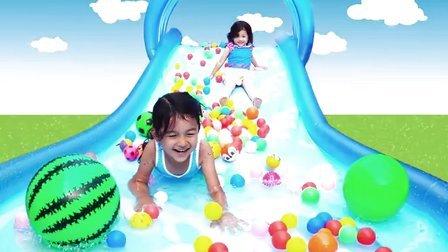 夏日放纵!中国爸爸家的大滑梯【中国爸爸】日本玩具