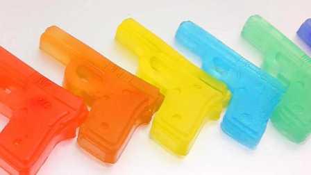 【POMPOM】 培乐多果冻粘土DIY 谁的彩虹小手枪好帅耶!小猪佩奇 熊出没 奥特曼 超级飞侠 火影忍者